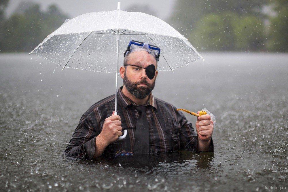 Идет фото в плохую погоду